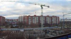 Продолжается строительство Собора Святого Духа на Долгоозерной улице