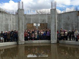 Посещение строительной площадки Свято-Духовского собора