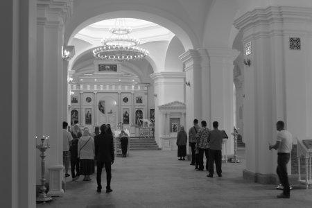 Богослужение в селе Путилово в Неделю 9-ю по Пятидесятнице
