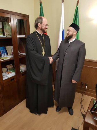 Протоиерей Александр Ткаченко встретился с муфтием Камилем хазратом Самигуллиным