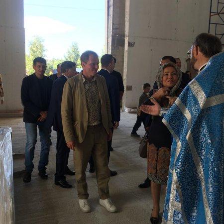 В праздник Успения Пресвятой Богородицы строящийся Свято-Духовской Собор посетила В.И. Матвиенко