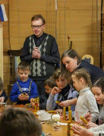 Мастер-класс по изготовлению свечей для детей воскресной школы